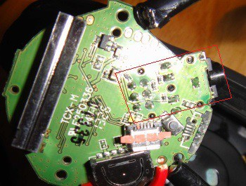 headphone jack port socket soldered