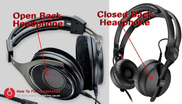 opened back vs closed back headphones