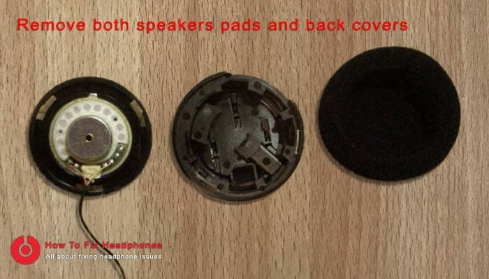 remove speaker pads and covers