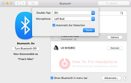 Turn On Off Automatic Ear Detection On Mac