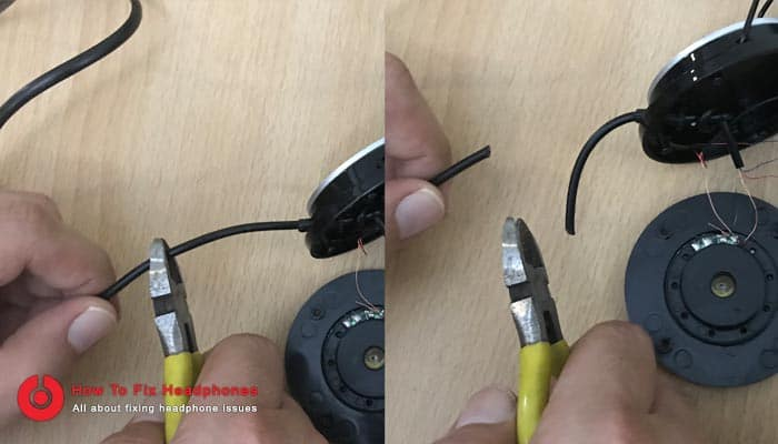 cut headphone cable cord